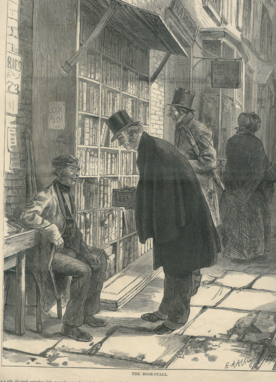 Harpers cover-Man at book stall